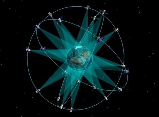 Схема орбитальной спутниковой группировки ГЛОНАСС (источник - Роскосмос)
