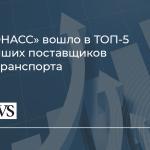 АО «ГЛОНАСС» заняло 4-е место в рейтинге CNews «Крупнейшие поставщики ИТ для транспортных компаний»