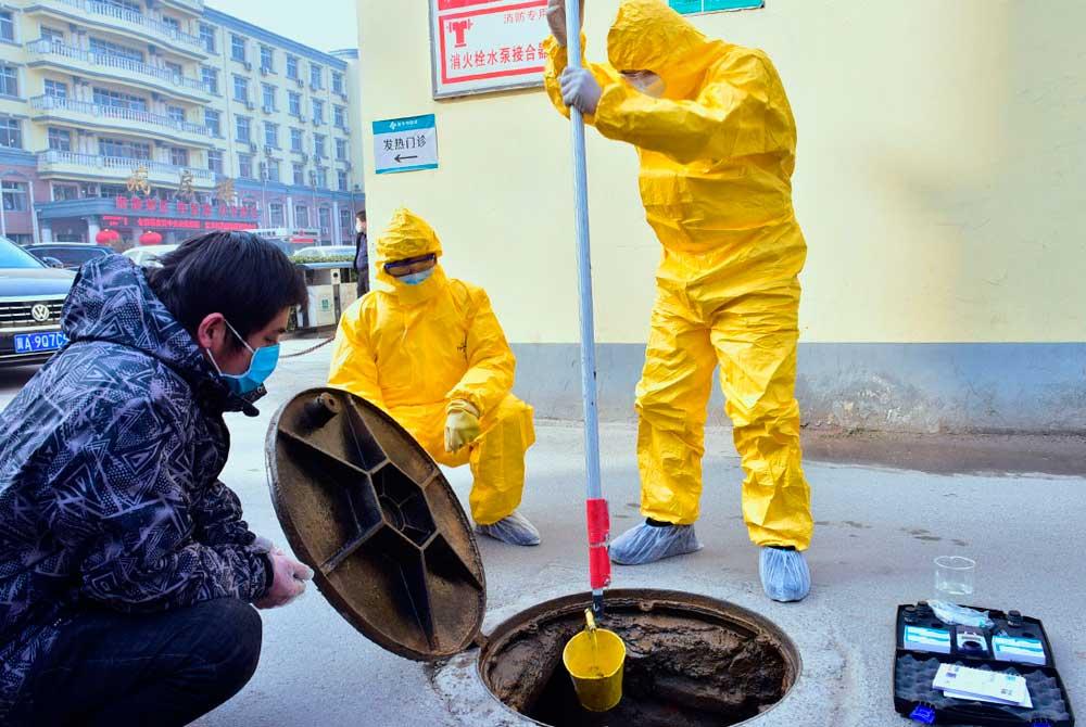 Система геопространственного наблюдения за канализацией для раннего предупреждения о коронавирусе